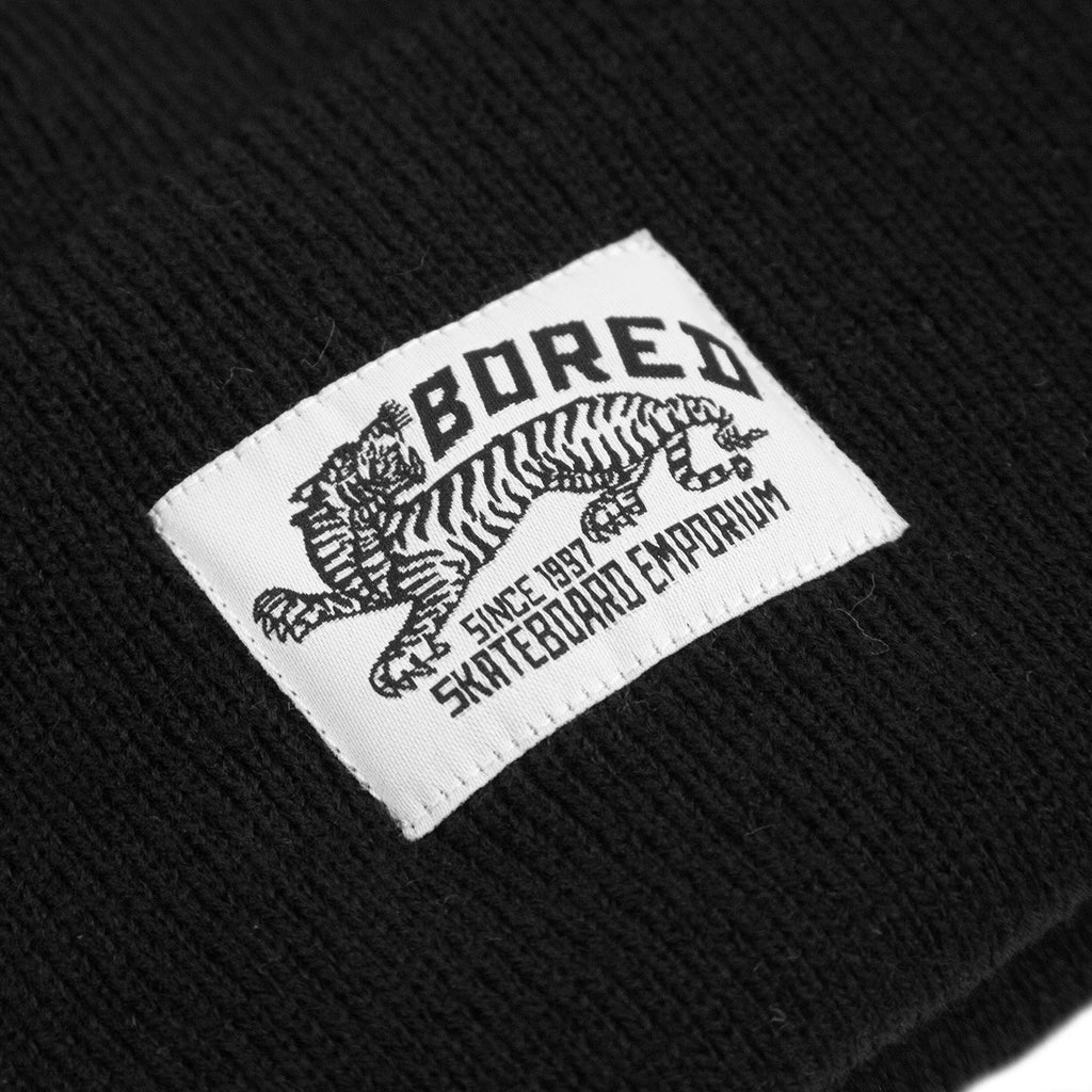 Bored of Southsea Daily Use Beanie in Black - Label