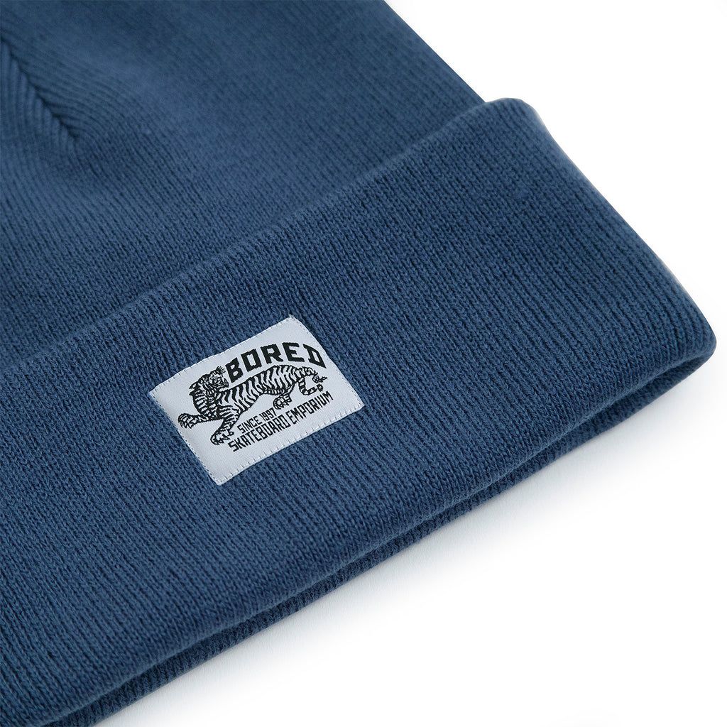 Bored of Southsea Daily Use Beanie in Airforce Blue - Detail