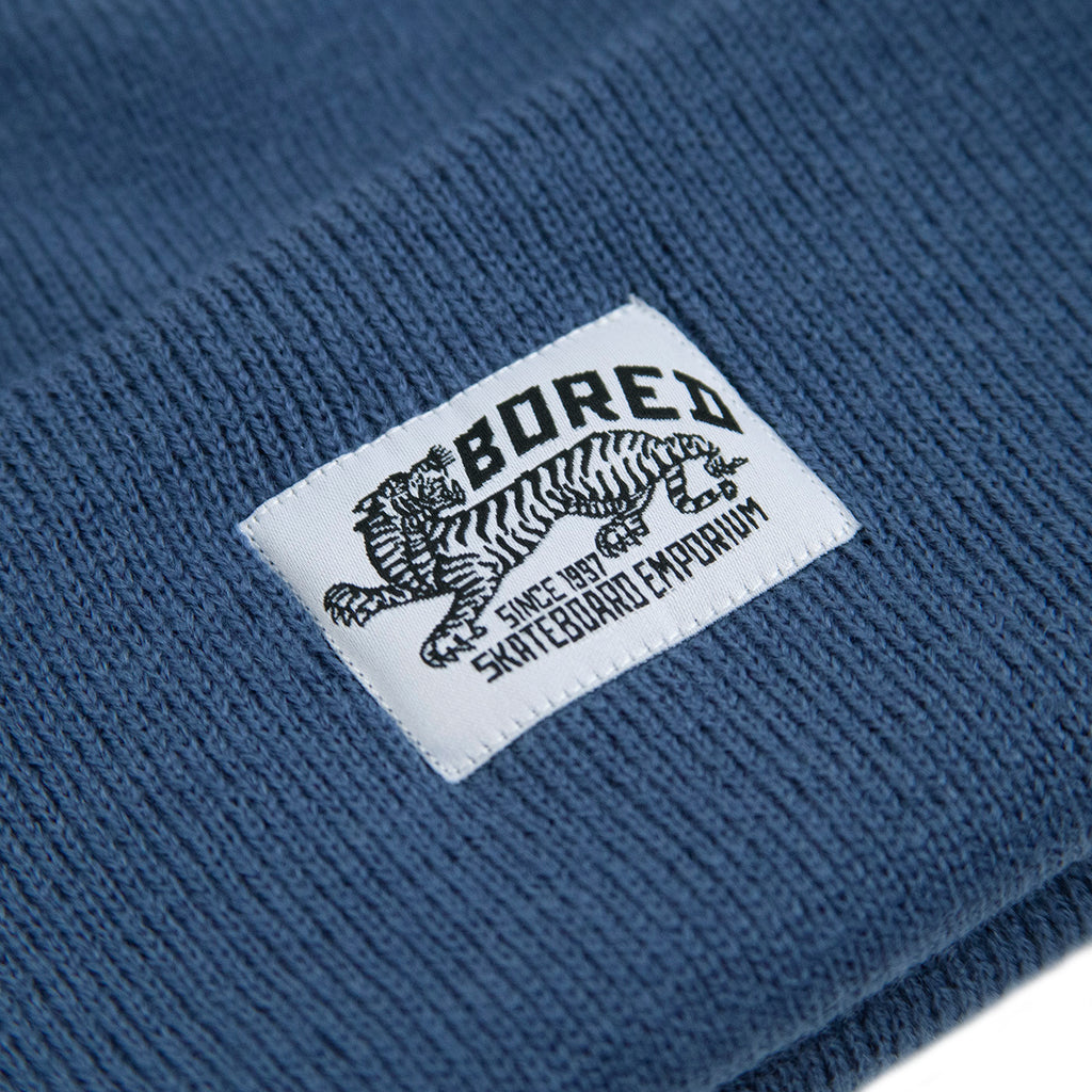 Bored of Southsea Daily Use Beanie in Airforce Blue - Label