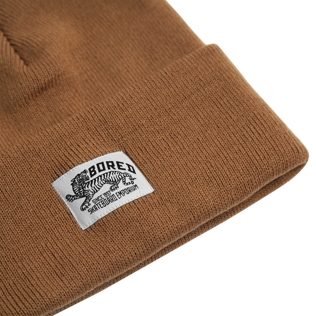 Bored of Southsea Daily Use Beanie in Caramel - Detail