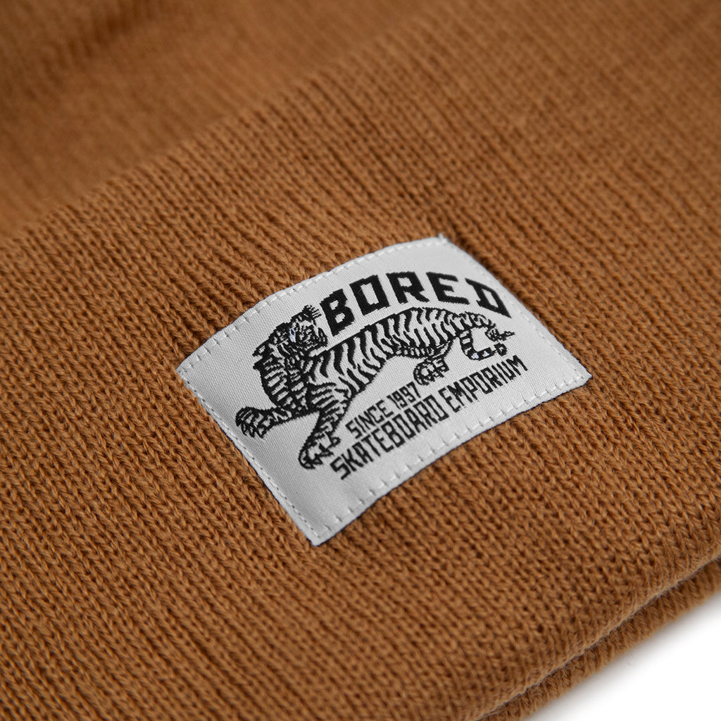 Bored of Southsea Daily Use Beanie in Caramel - Label