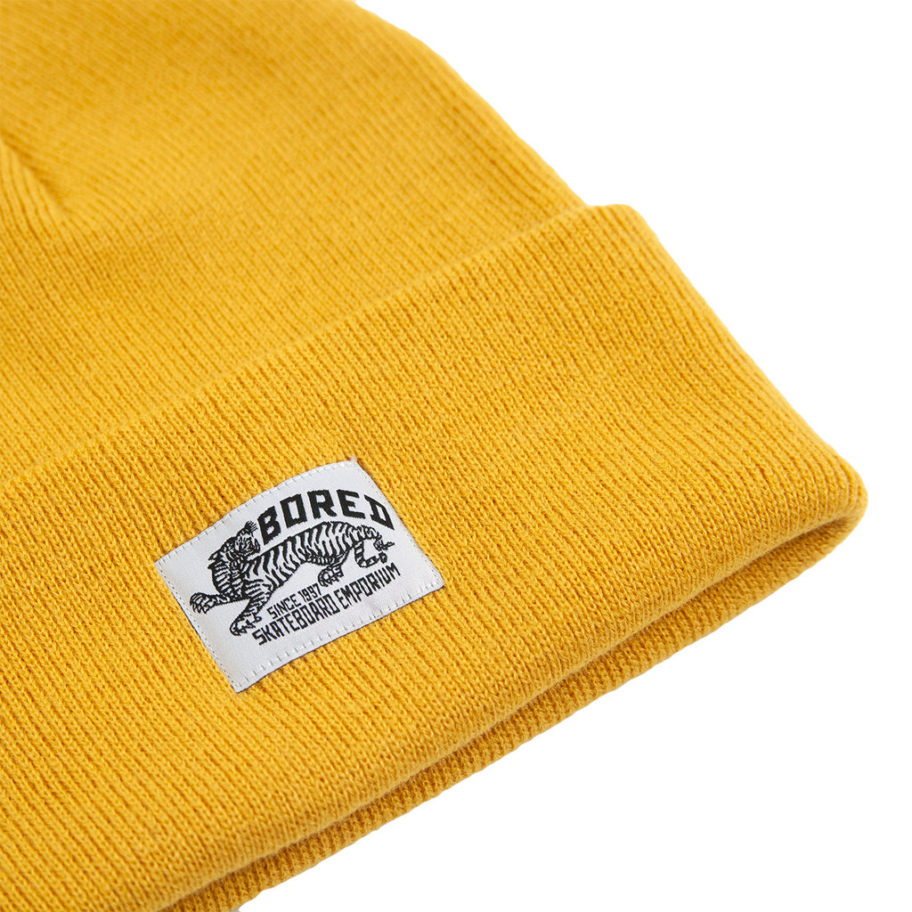 Bored of Southsea Daily Use Beanie in Mustard - Detail