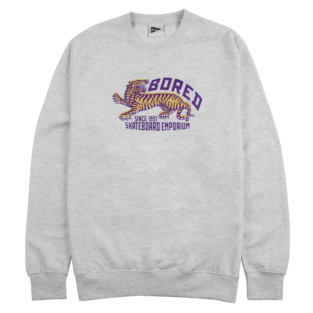 Bored of Southsea Tiger Emporium Sweatshirt in Ash Grey