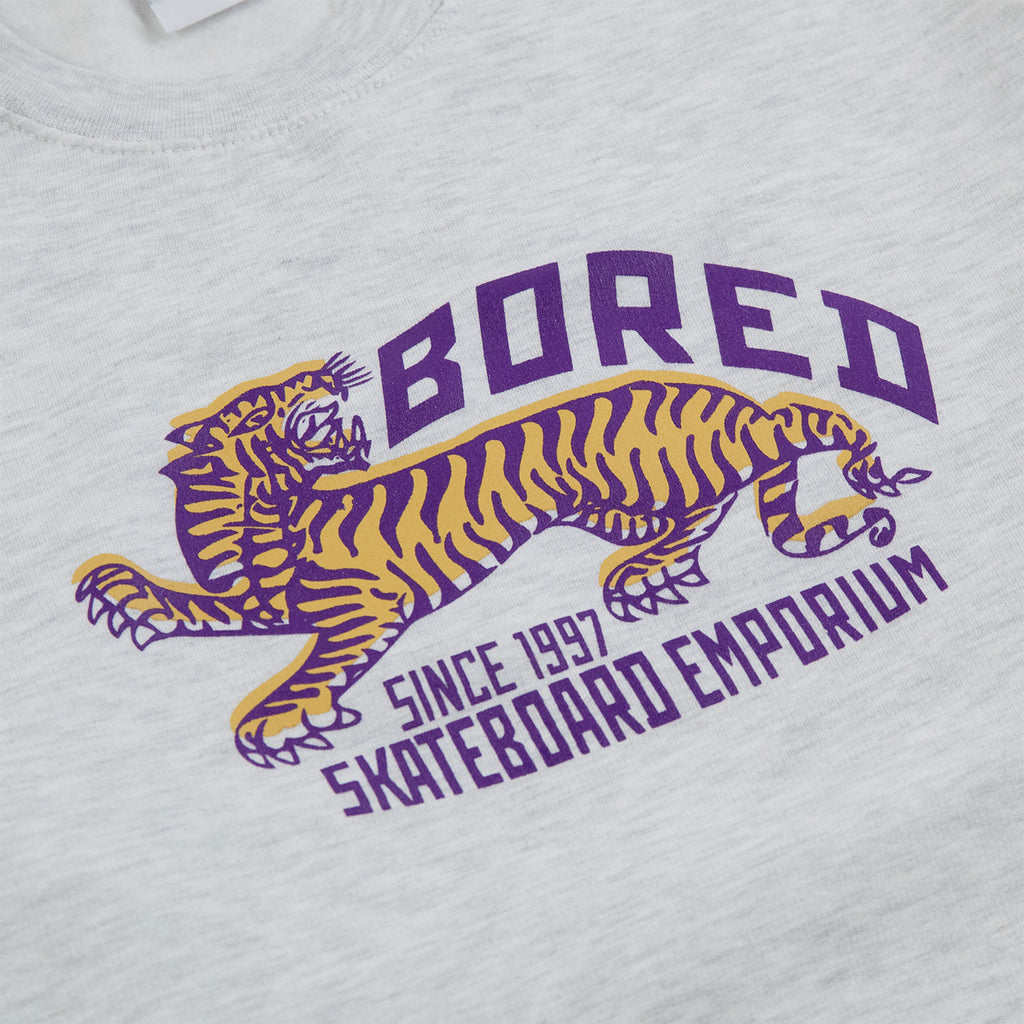Bored of Southsea Tiger Emporium Sweatshirt in Ash Grey - Print