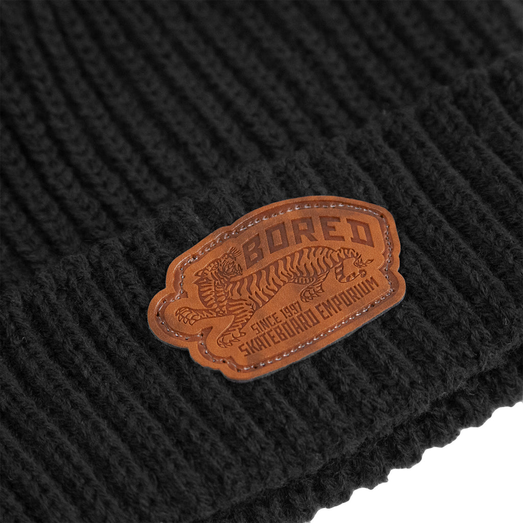 Bored of Southsea Daily Use Fisherman Beanie in Black - Detail