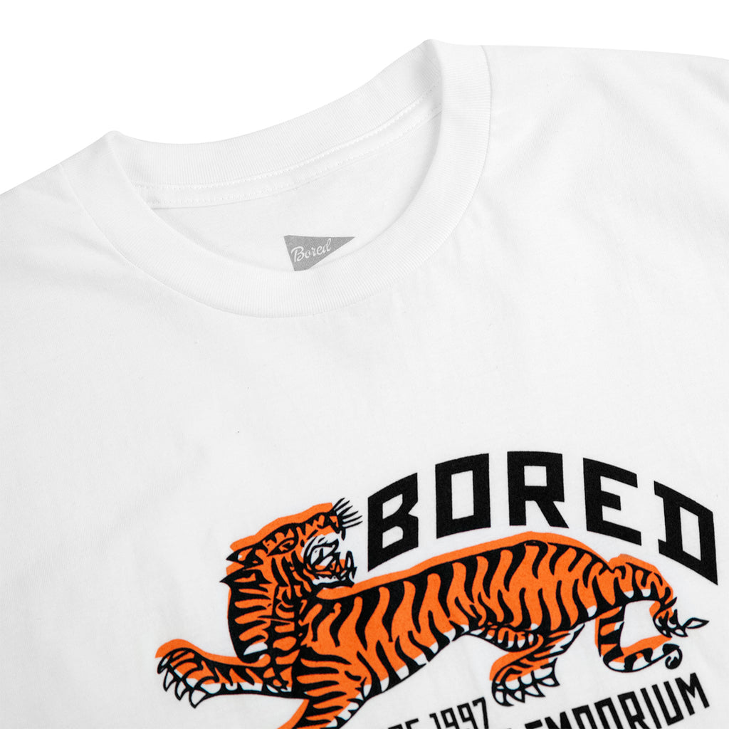 Bored of Southsea Tiger Emporium T Shirt in White - Detail