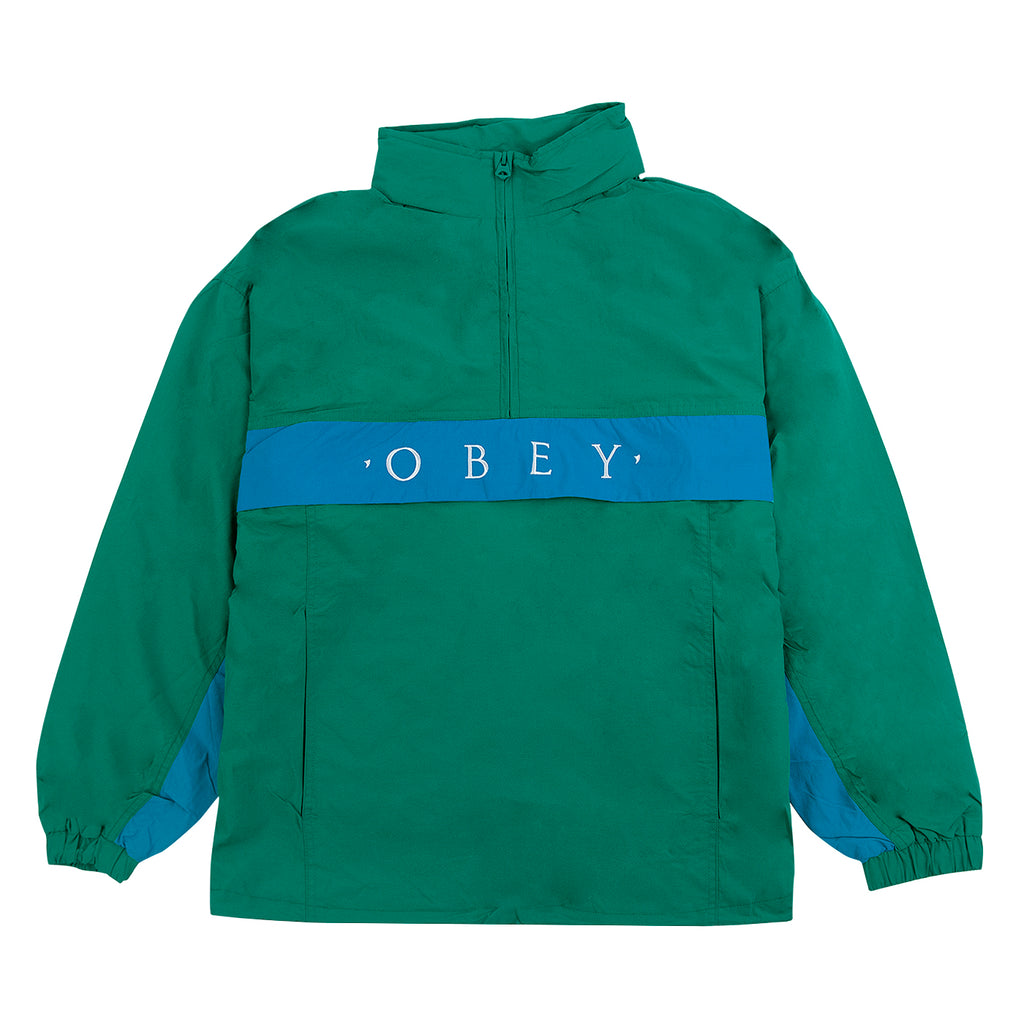 Obey Clothing Title Anorak in Blue Green