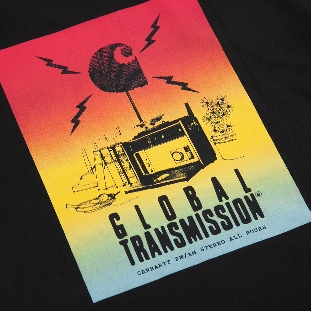 Carhartt WIP Transmission T Shirt in Black - Back Print
