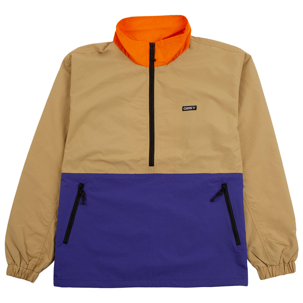 Obey Clothing The Tucker Anorak Jacket in Almond Multi