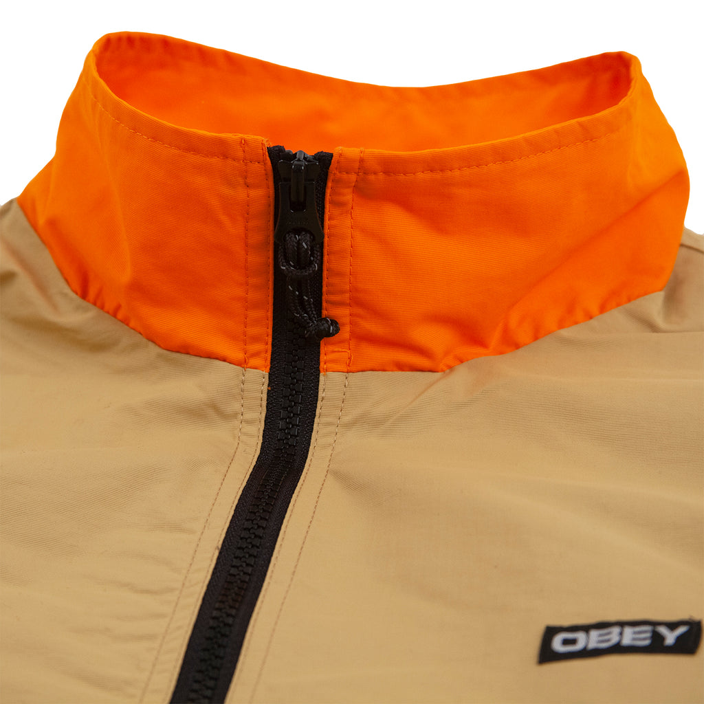Obey Clothing The Tucker Anorak Jacket in Almond Multi - Detail