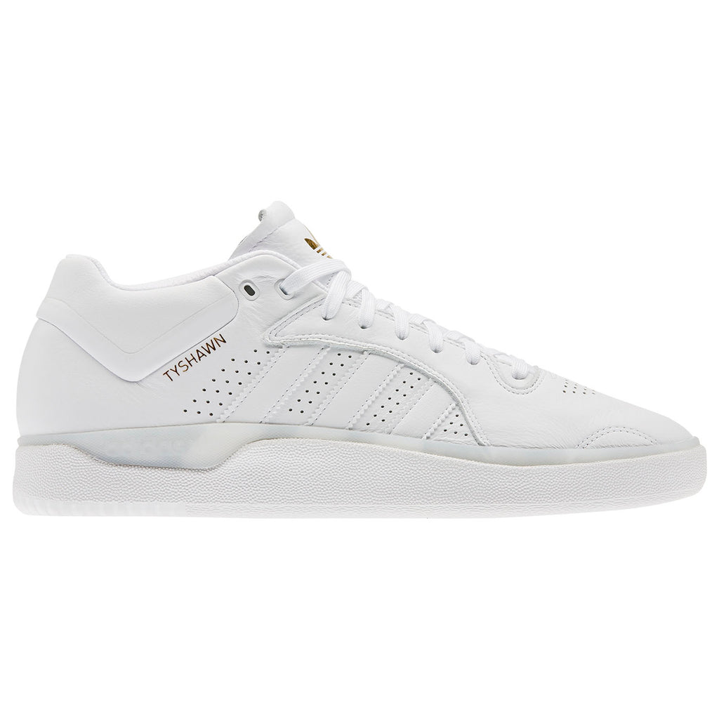 Adidas Skateboarding Tyshawn Shoes in Footwear White / Footwear White / Footwear White