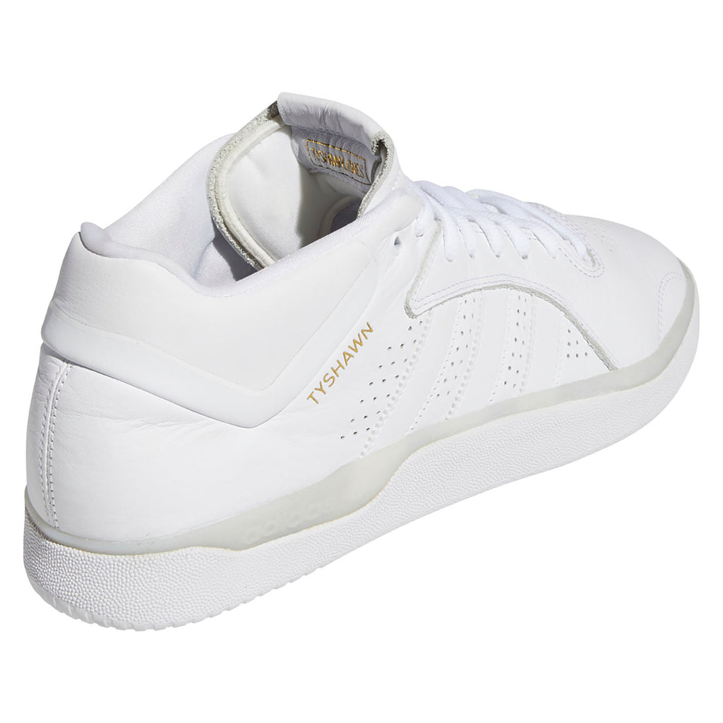 Adidas Skateboarding Tyshawn Shoes in Footwear White / Footwear White / Footwear White - Detail