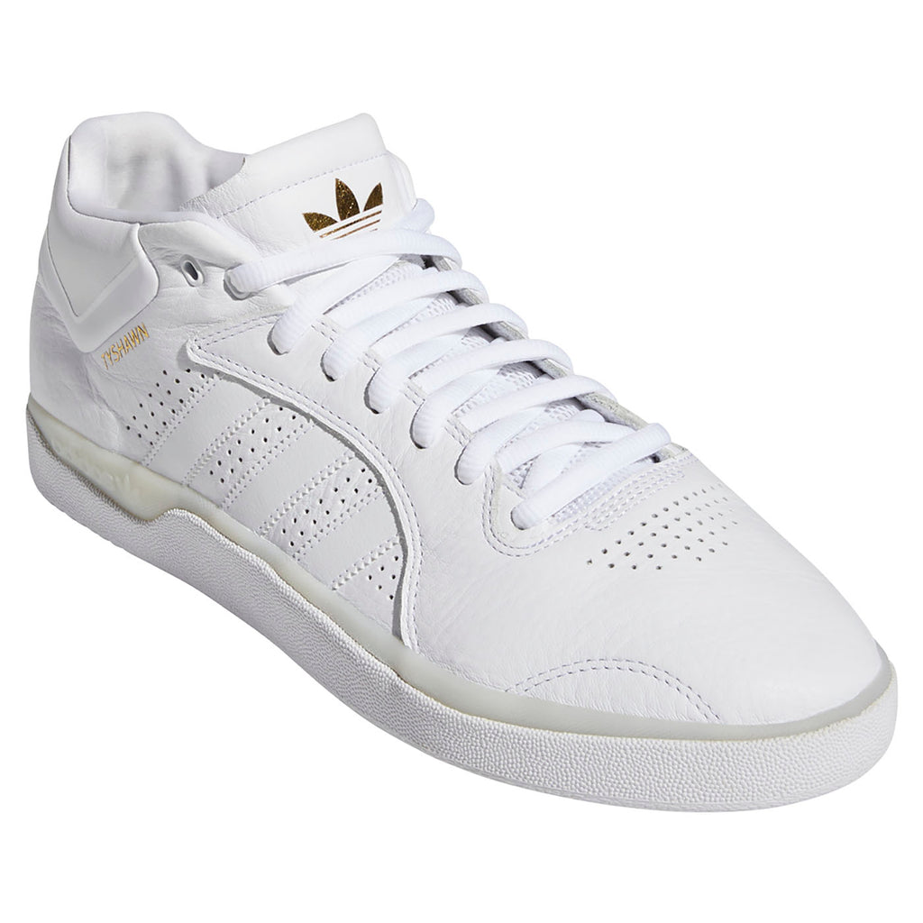 Adidas Skateboarding Tyshawn Shoes in Footwear White / Footwear White / Footwear White - Detail 3
