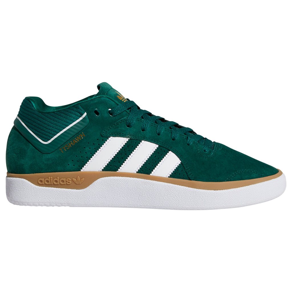 Adidas Skateboarding Tyshawn Shoes in Collegiate Green / Footwear White / Gum 4