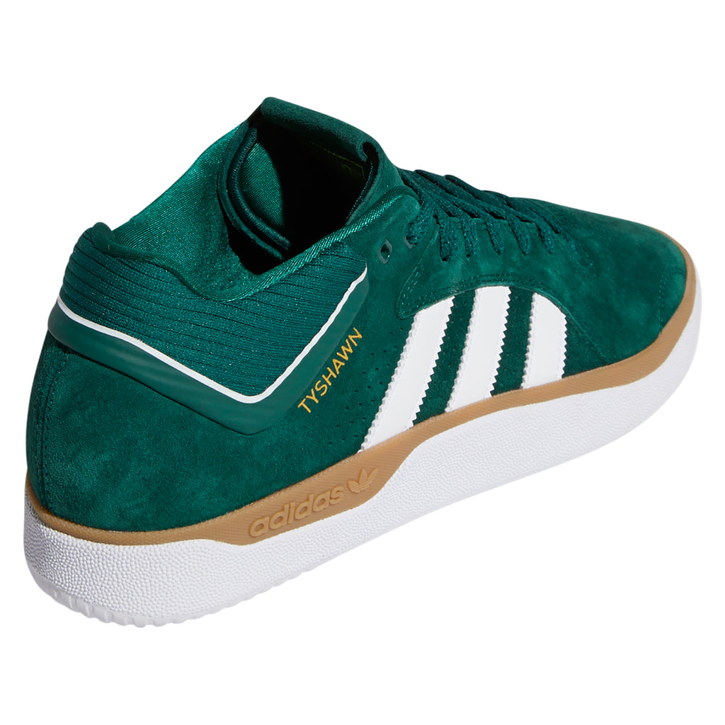 Adidas Skateboarding Tyshawn Shoes in Collegiate Green / Footwear White / Gum 4 - Back