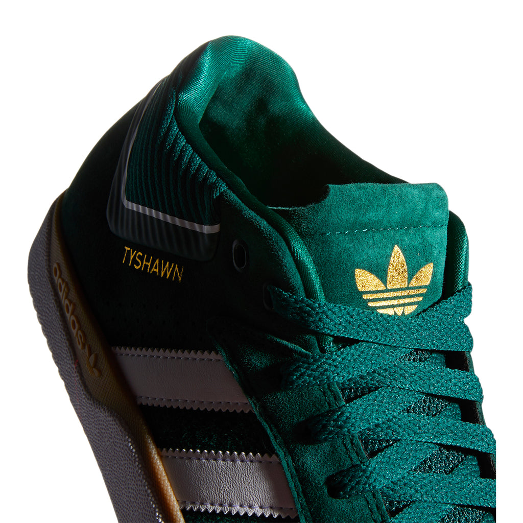 Adidas Skateboarding Tyshawn Shoes in Collegiate Green / Footwear White / Gum 4 - Detail