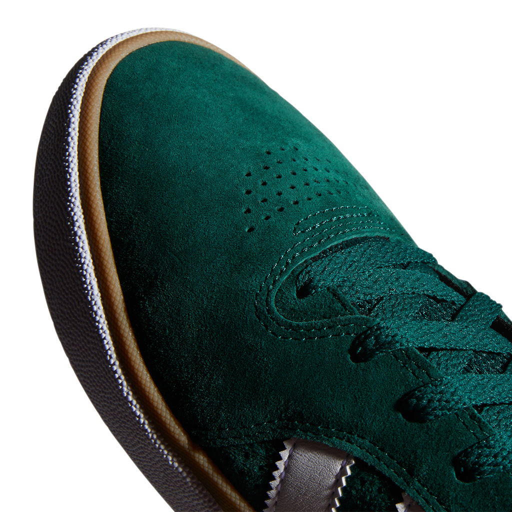 Adidas Skateboarding Tyshawn Shoes in Collegiate Green / Footwear White / Gum 4 - Toe
