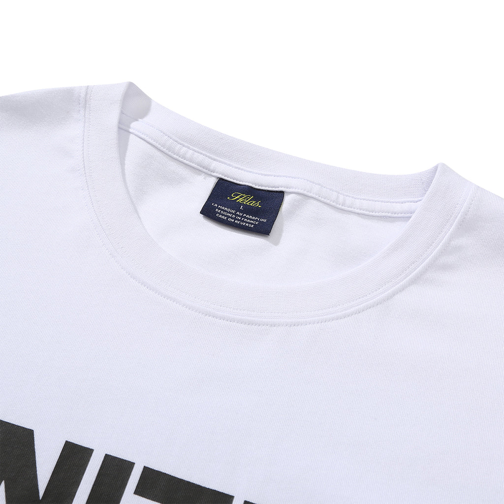Helas United T Shirt in White - Collar