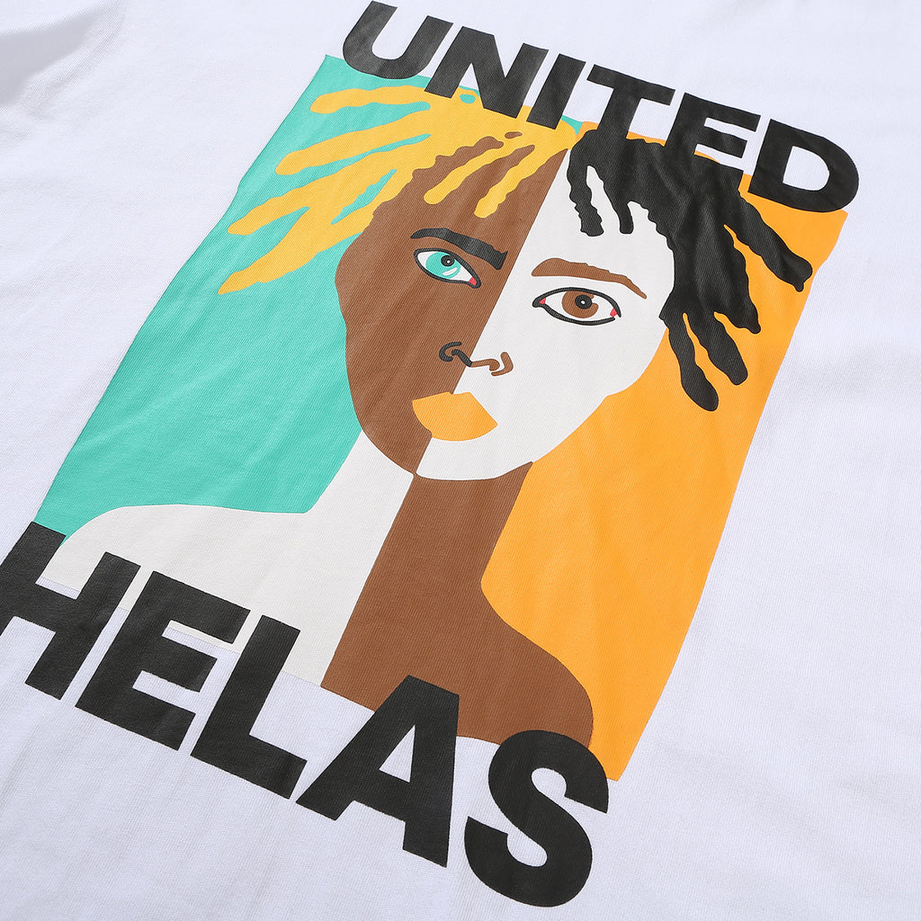 Helas United T Shirt in White - Detail