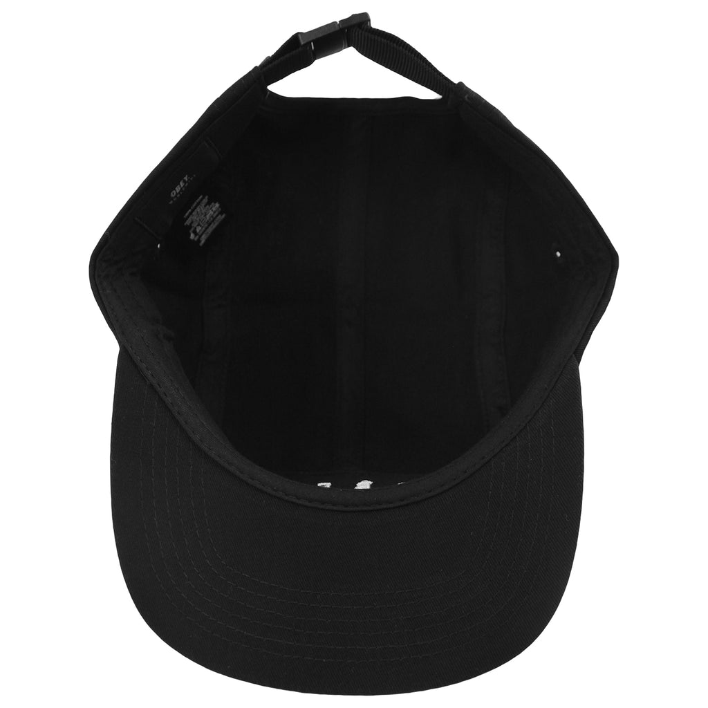Obey Clothing Union 5 Panel Cap in Black - Inside