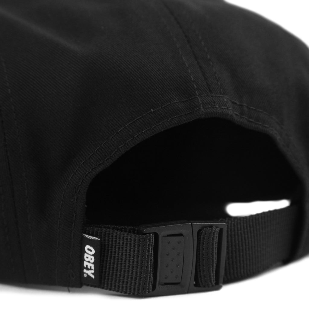 Obey Clothing Union 5 Panel Cap in Black - Back