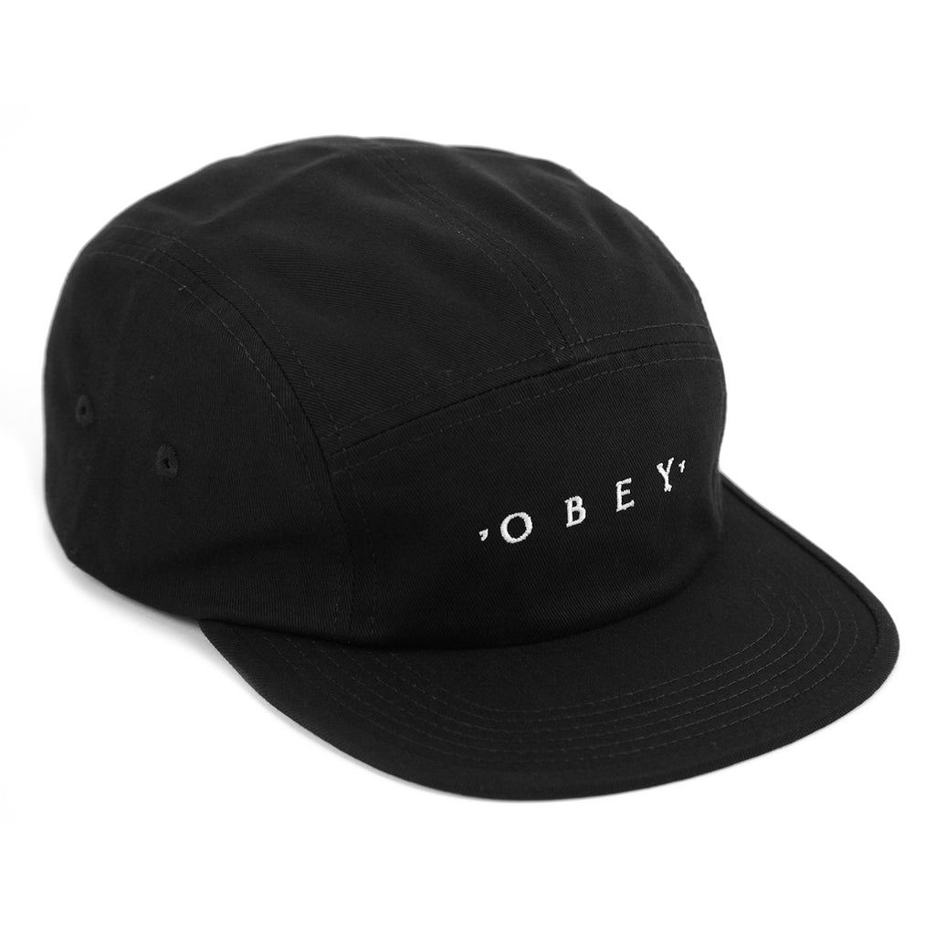 Obey Clothing Union 5 Panel Cap in Black