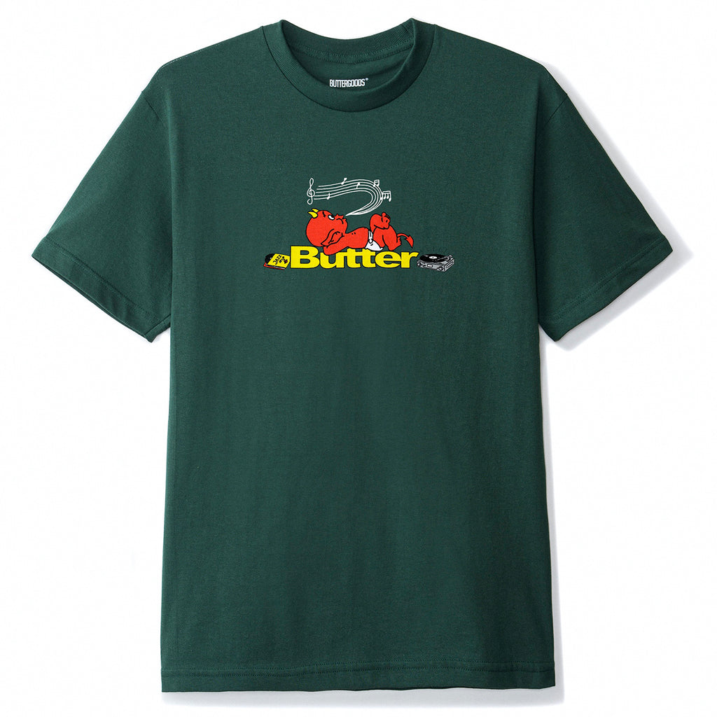 Butter Goods Unwind T Shirt in Forest Green