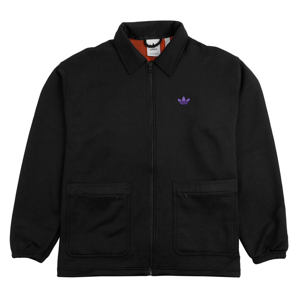 Adidas Skateboarding Utility Jacket in Black / Purple / Glow Amber