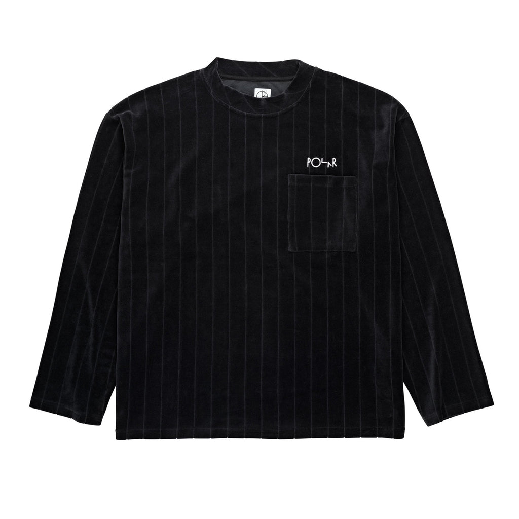 Polar Skate Co Velour Pullover in Black