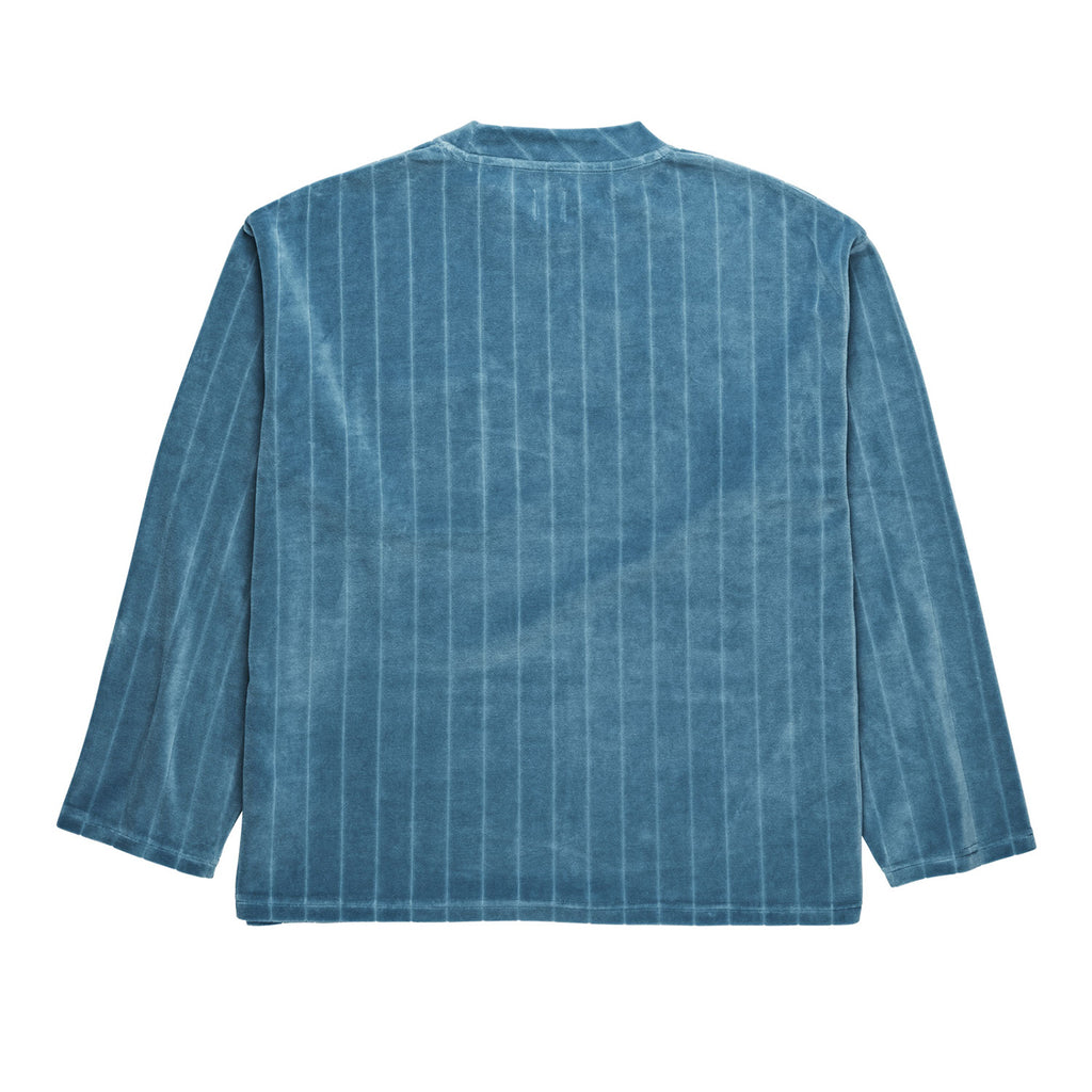 Polar Skate Co Velour Pullover in Grey Blue - Back