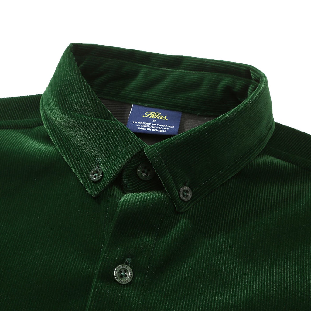 Helas L/S VŒUX Shirt in Green - Collar