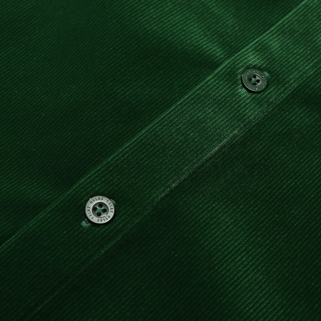 Helas L/S VŒUX Shirt in Green - Placket