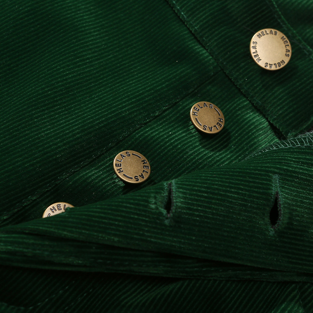 Helas VŒUX Pant in Green - Buttons