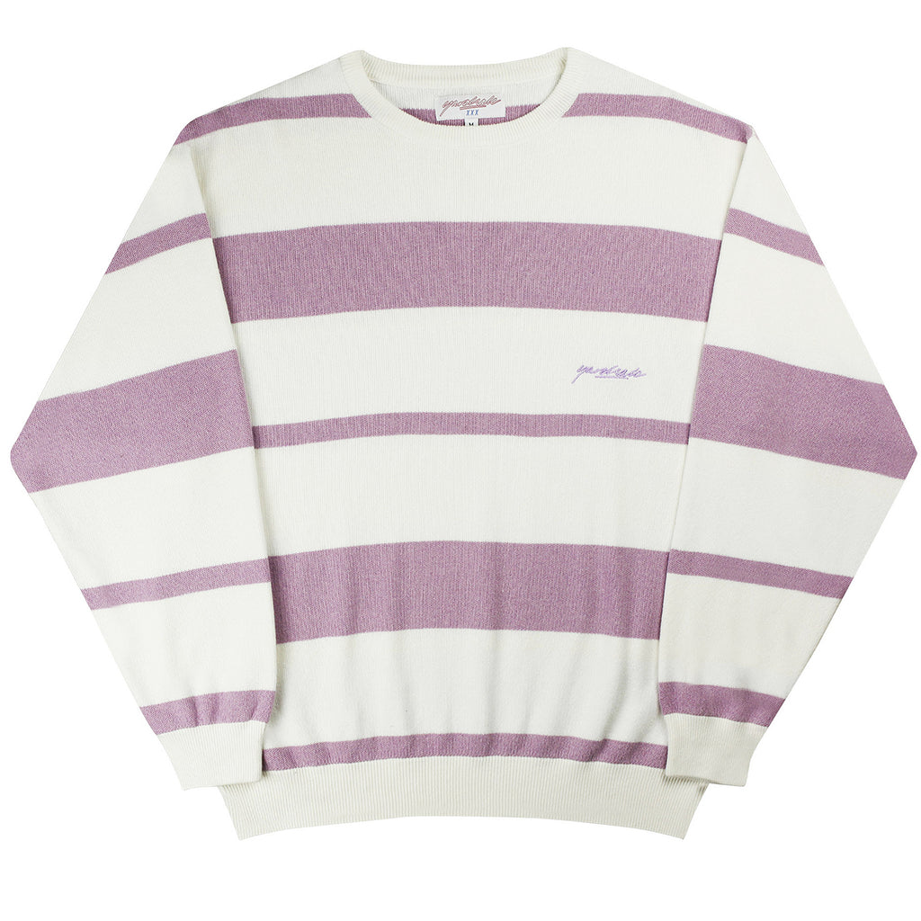 Yardsale Val Knit Crewneck in Lavender / White - Front