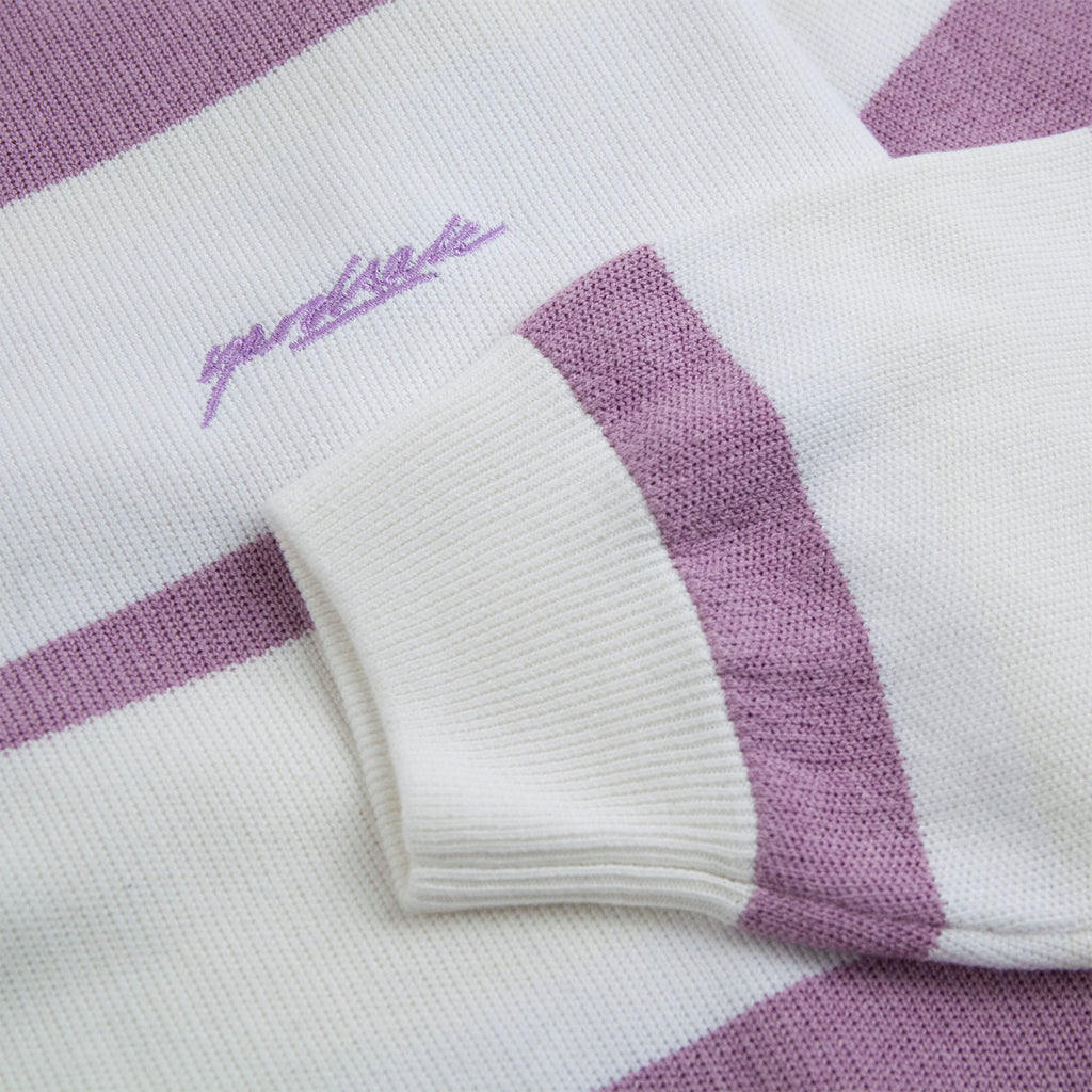 Yardsale Val Knit Crewneck in Lavender / White - Cuff