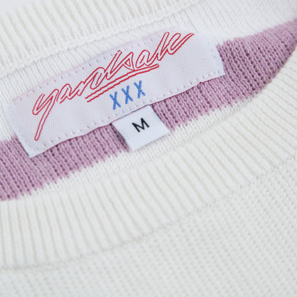 Yardsale Val Knit Crewneck in Lavender / White - Labelling