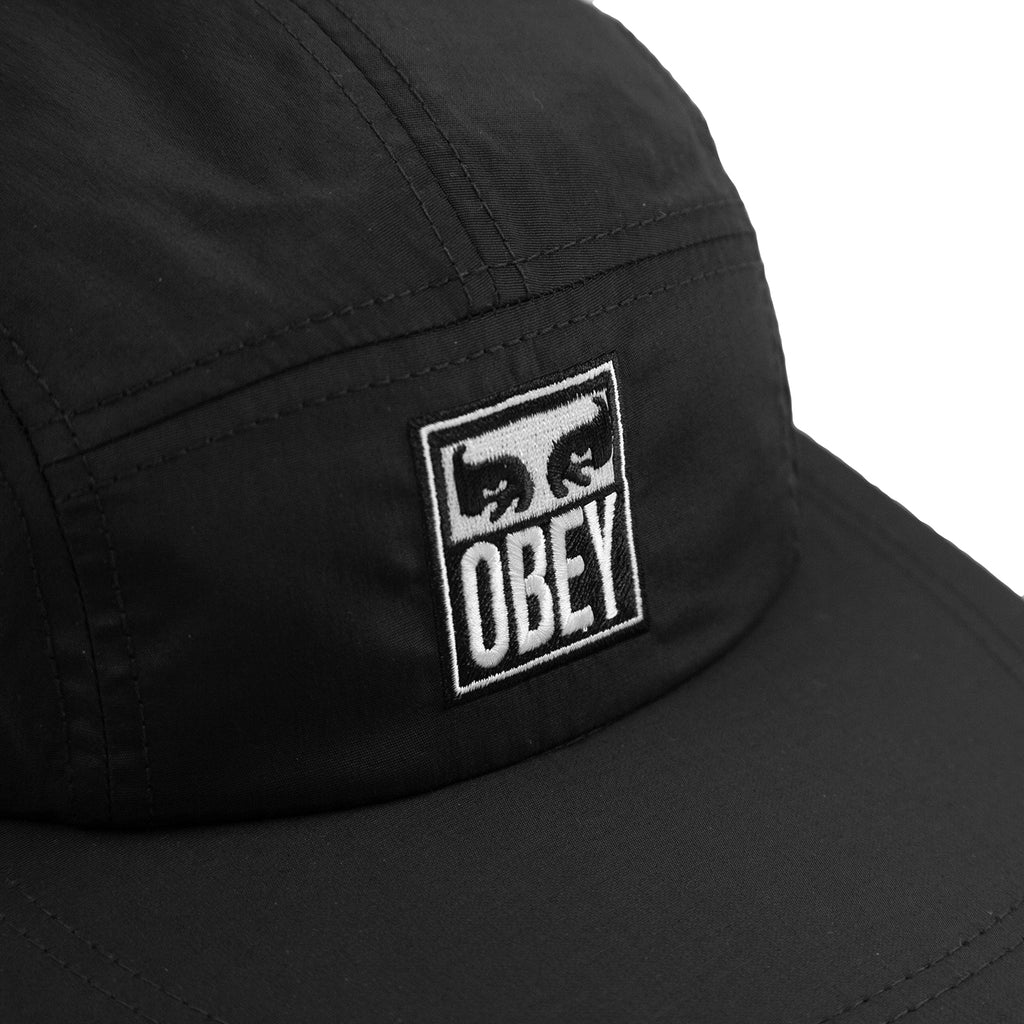 Obey Clothing Vanish 5 Panel Cap in Black - Detail