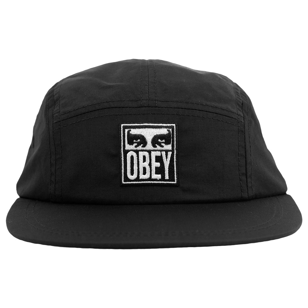 Obey Clothing Vanish 5 Panel Cap in Black - Front
