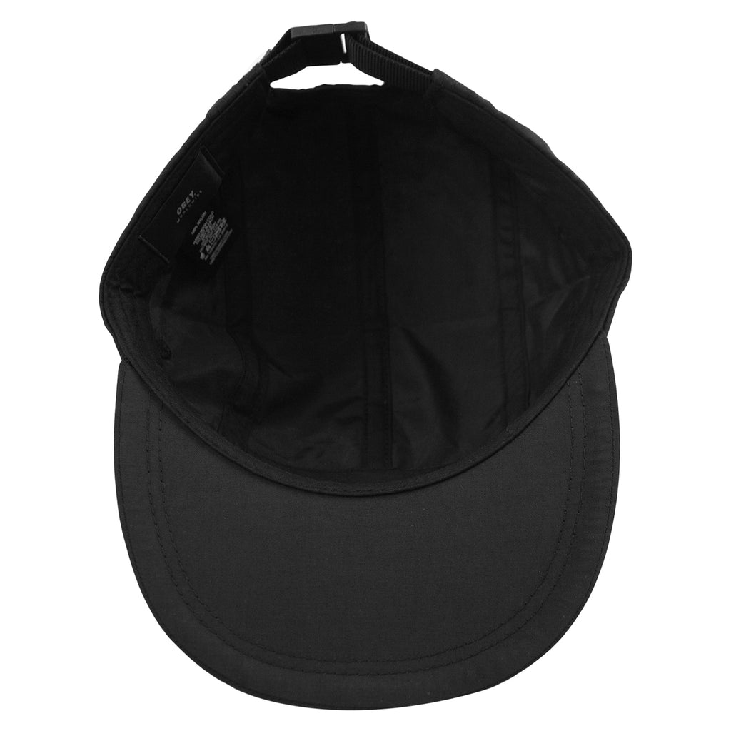 Obey Clothing Vanish 5 Panel Cap in Black - Inisde
