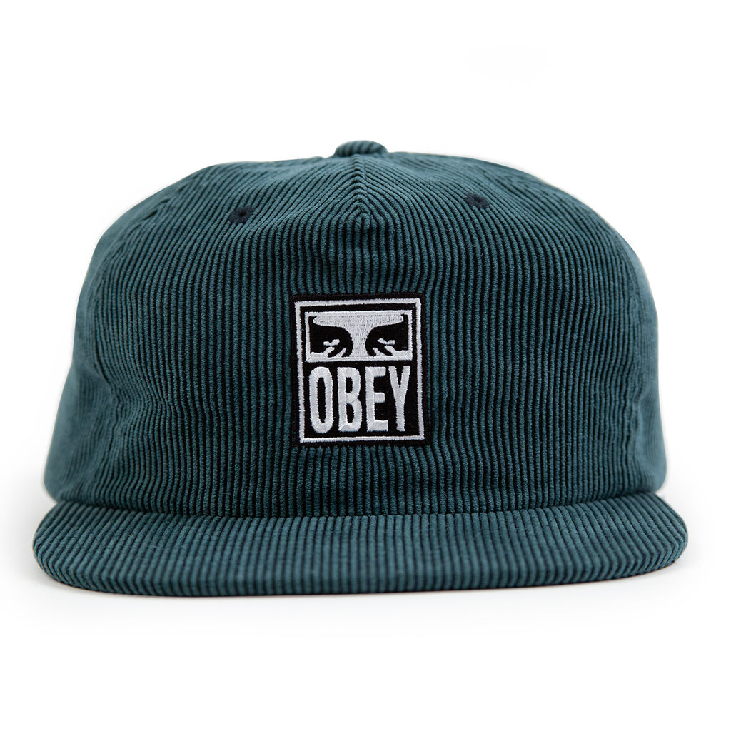 Obey Clothing Vanish Strapback Cap in Emerald