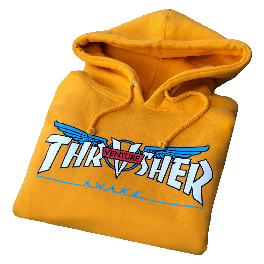 Thrasher Magazine x Venture Trucks Hoodie in Gold