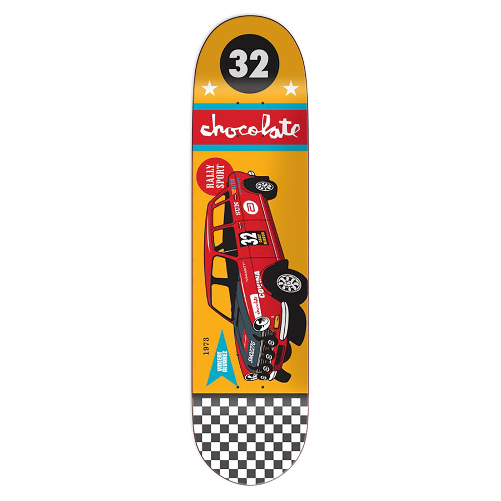 Chocolate Skateboards Crailtap Classic Rally Car Vincent Alvarez Skateboard Deck in 8""