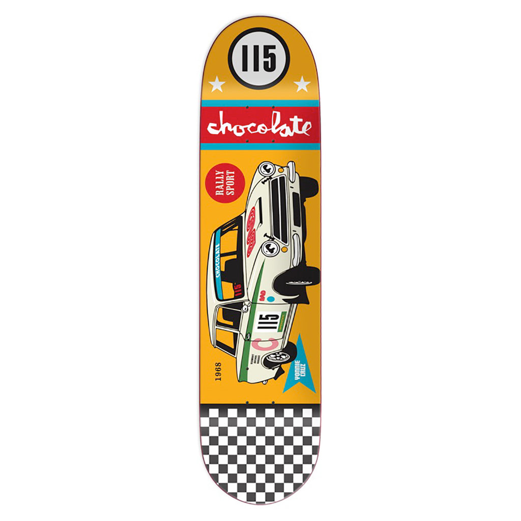 Chocolate Skateboards Crailtap Classic Rally Car Yonnie Cruz Skateboard Deck in 8.125""
