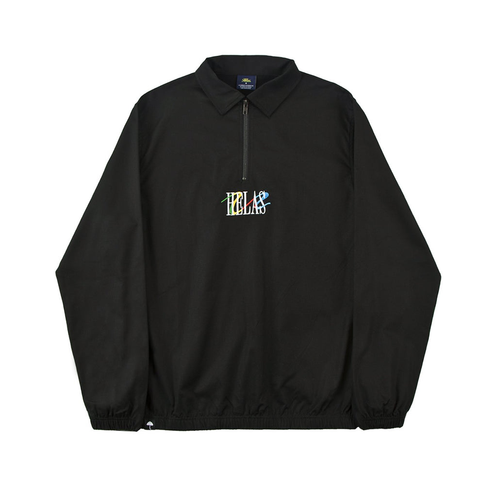 Helas Wavy Quarter Zip Pullover in Black