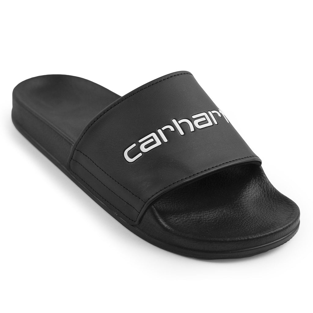 Carhartt WIP Sliders in Black / White - Detail