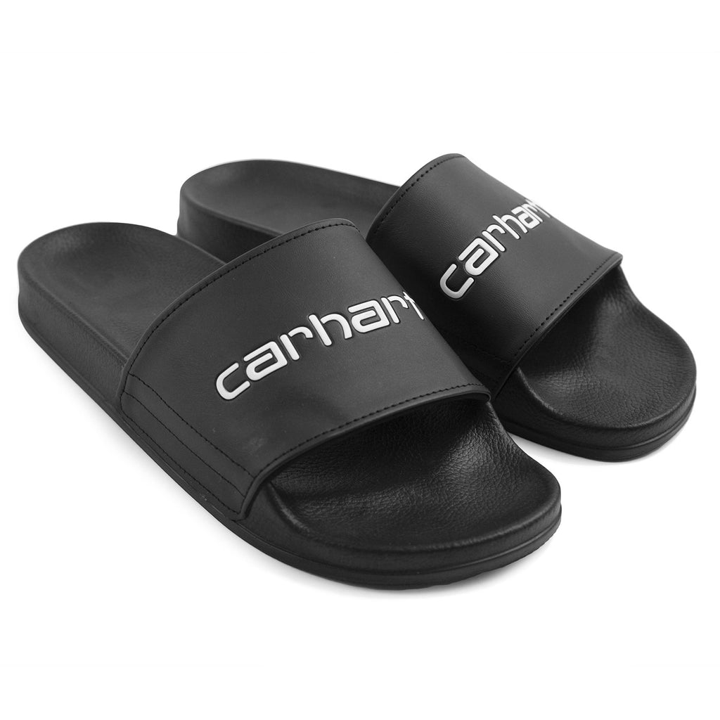 Carhartt WIP Sliders in Black / White