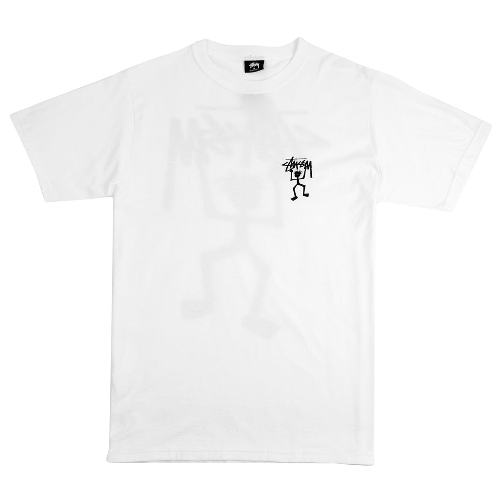 Stussy Warrior Man T Shirt in White - Front