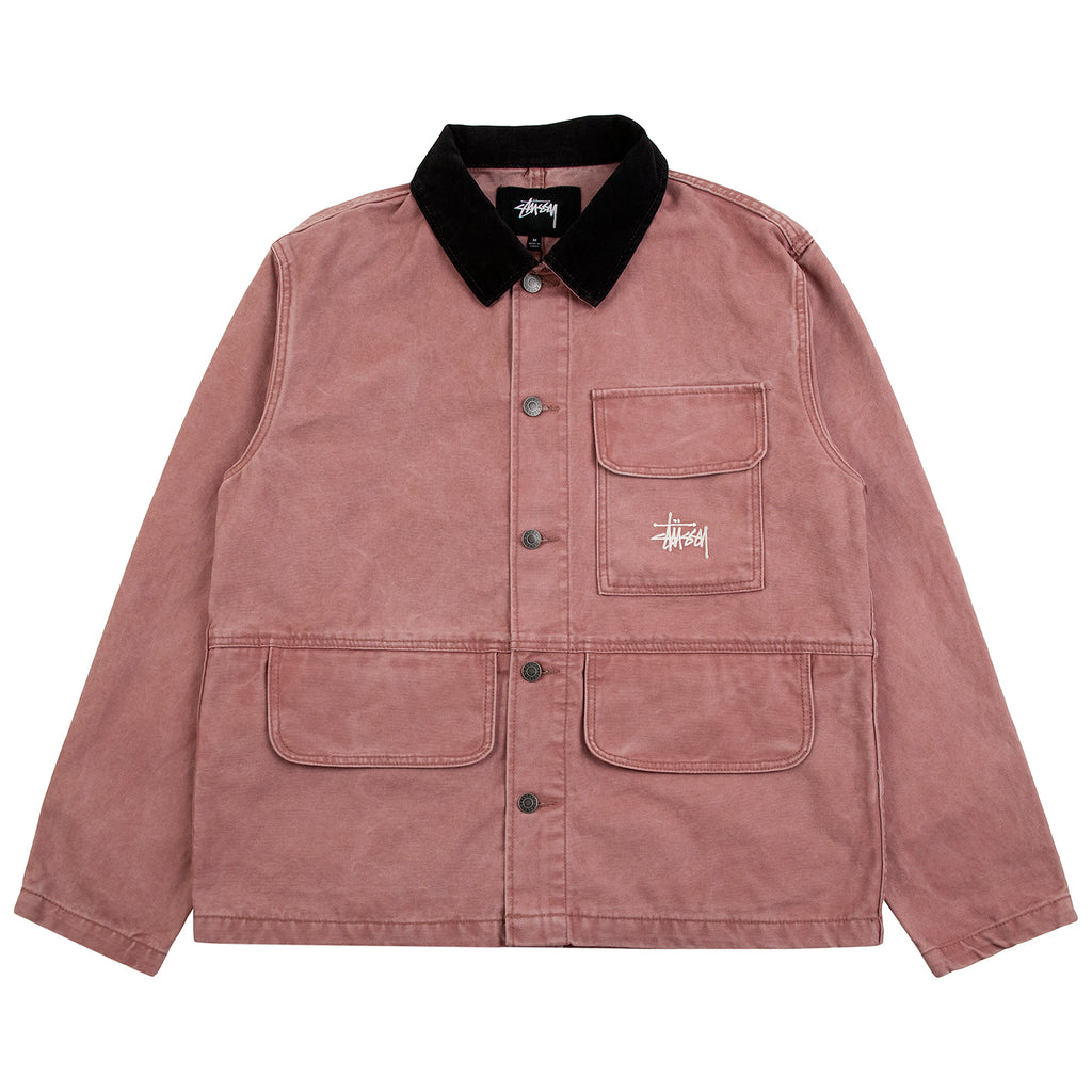 Stussy Washed Chore Jacket - Rose