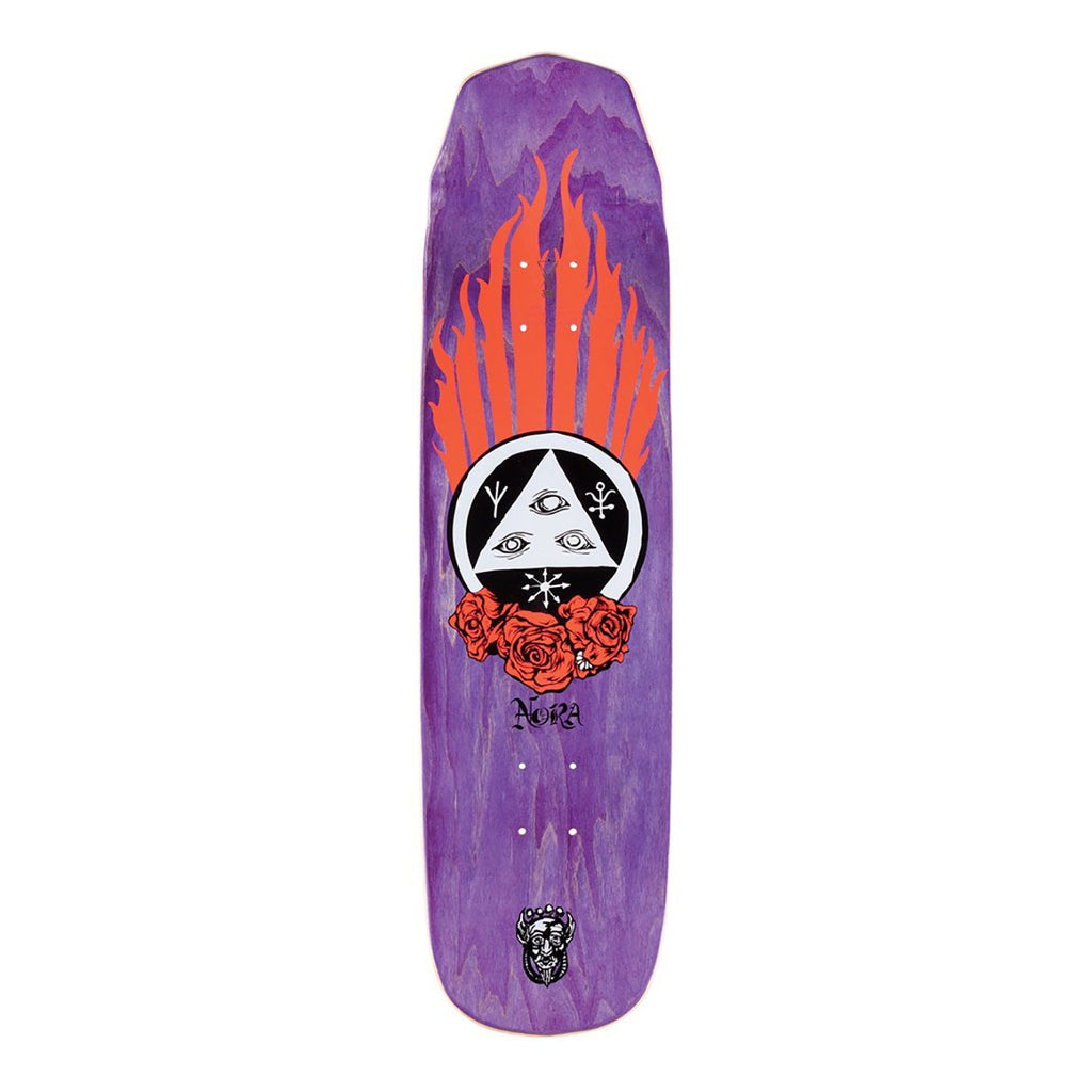 "Welcome Skateboards Peregrine on Wicked Princess Coral Skateboard Deck in 8.125"" - Top"