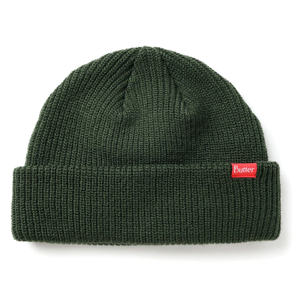 Butter Goods Warfie Beanie in Dark Green